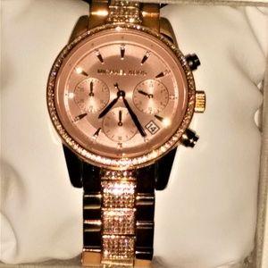 Michael Kors Ritz Pave Crystal Chrono Watch